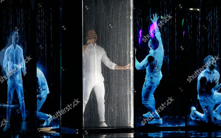 """Sergey Lazarev of Russia performs the song """"Scream"""" during the 2019 Eurovision Song Contest grand final in Tel Aviv, Israel"""