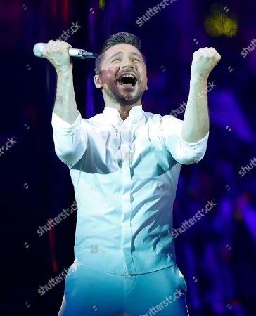 """Stock Picture of Sergey Lazarev of Russia performs the song """"Scream"""" during the 2019 Eurovision Song Contest grand final in Tel Aviv, Israel"""