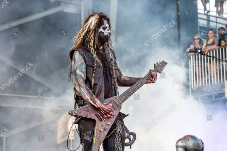 Randy Weitzel of In This Moment performs at the Sonic Temple Art and Music Festival at Mapfre Stadium, in Columbus, Ohio