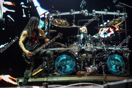 John Moyer, Mike Wengren. John Moyer, left, and Mike Wengren of Disturbed perform at the Sonic Temple Art and Music Festival at Mapfre Stadium, in Columbus, Ohio