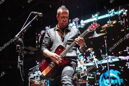 Dan Donegan of Disturbed performs at the Sonic Temple Art and Music Festival at Mapfre Stadium, in Columbus, Ohio