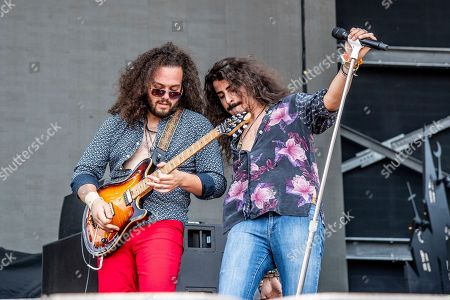 Justin Young, Ehab Omran. Justin Young, left, and Ehab Omran of Black Coffee perform at the Sonic Temple Art and Music Festival at Mapfre Stadium, in Columbus, Ohio