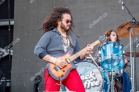 Justin Young of Black Coffee performs at the Sonic Temple Art and Music Festival at Mapfre Stadium, in Columbus, Ohio