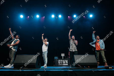 Stock Picture of O-Town - Trevor Penick, Dan Miller, Jacob Underwood, and Erik-Michael Estrada