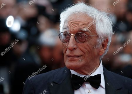 Stock Image of Gerard Darmon arrives for the screening of 'Les Plus Belles Annees d'une Vie' (The Best Years of a Life) during the 72nd annual Cannes Film Festival, in Cannes, France, 18 May 2019. The movie is presented in the Official Competition of the festival which runs from 14 to 25 May.