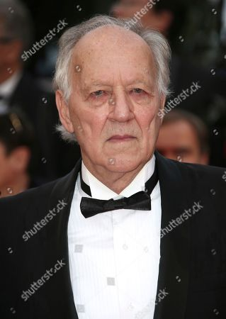 Werner Herzog poses for photographers upon arrival at the premiere of the film 'The Best Years of a Life' at the 72nd international film festival, Cannes, southern France