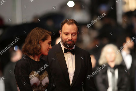 Stock Picture of Yorgos Lanthimos, Ariane Labed. Actress Ariane Labed, left, and jury member Yorgos Lanthimos pose for photographers upon arrival at the premiere of the film 'The Whistlers' at the 72nd international film festival, Cannes, southern France