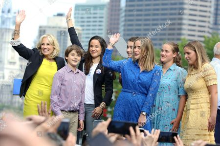 Stock Image of Jill Biden and family