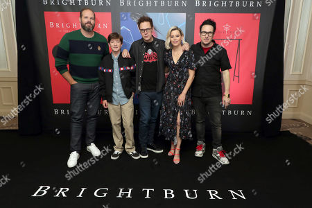 David Denman, Jackson A. Dunn, Producer James Gunn, Elizabeth Banks and Director David Yarovesky