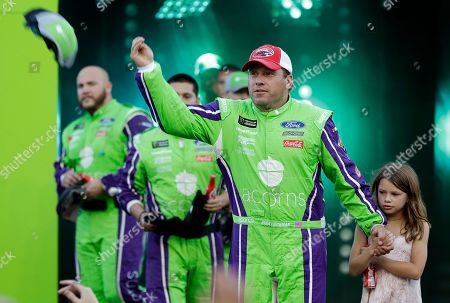 Ryan Newman is introduced before the NASCAR All-Star Race at Charlotte Motor Speedway in Concord, N.C