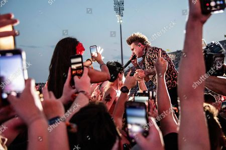 Jacoby Shaddix of Papa Roach performs at the Sonic Temple Art and Music Festival at Mapfre Stadium, in Columbus, Ohio