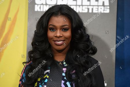 "Ta'Rhonda Jones arrives at the Los Angeles premiere of ""Godzilla: King of The Monsters"", at the TCL Chinese Theatre"