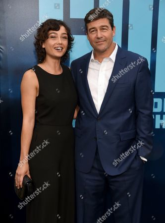 """Sydney Chandler, Kyle Chandler. Sydney Chandler, left, and Kyle Chandler arrive at the Los Angeles premiere of """"Godzilla: King of The Monsters"""", at the TCL Chinese Theatre"""