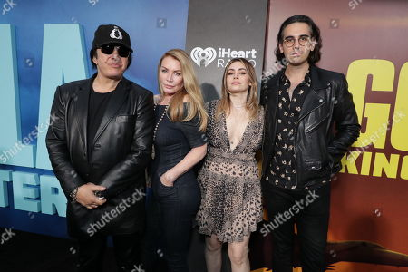 Gene Simmons, Shannon Tweed, Sophie Simmons, Nick Simmons