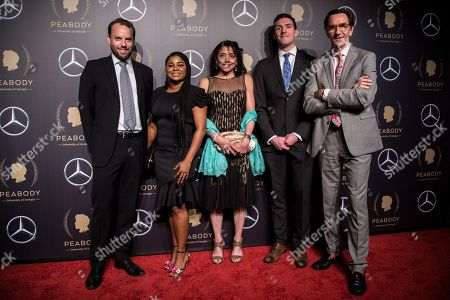 Hugo Berkeley, Brittany Clemons, Julie Anderson, Benjamin Phelps and Stephen Segaller attend the 78th annual Peabody Awards Ceremony in New York, New York, USA, 18 May 2019. The Peabody Awards, named after American philanthropist George Peabody, recognize extraordinary stories in seven categories; news, entertainment, documentaries, children's programming, education, interactive programming, and public service.
