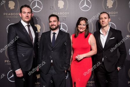 Stock Photo of Job Rabkin, Ed Howker, Dani Isdale and Guy Basnett attend the 78th annual Peabody Awards Ceremony in New York, New York, USA, 18 May 2019. The Peabody Awards, named after American philanthropist George Peabody, recognize extraordinary stories in seven categories; news, entertainment, documentaries, children's programming, education, interactive programming, and public service.