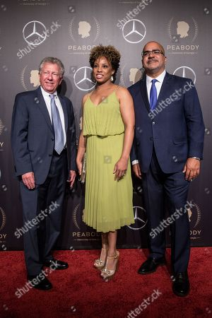 Hank Klibanoff (L), Je-Anne Berry (C) and David Barasoain (R) attend the 78th annual Peabody Awards Ceremony in New York, New York, USA, 18 May 2019. The Peabody Awards, named after American philanthropist George Peabody, recognize extraordinary stories in seven categories; news, entertainment, documentaries, children's programming, education, interactive programming, and public service.
