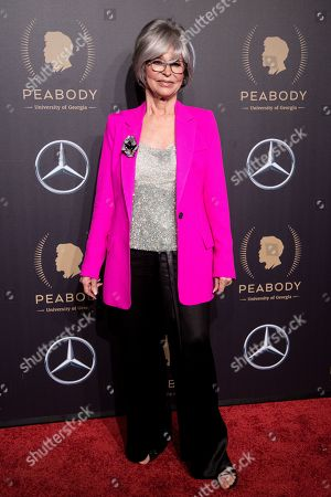 Puerto Rican actress Rita Moreno attends the 78th annual Peabody Awards Ceremony in New York, New York, USA, 18 May 2019. The Peabody Awards, named after American philanthropist George Peabody, recognize extraordinary stories in seven categories; news, entertainment, documentaries, children's programming, education, interactive programming, and public service.