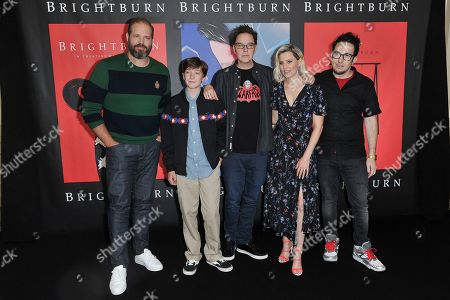 "David Denman, Jackson A. Dunn, James Gunn, Elizabeth Banks, David Yarovesky. David Denman, from left, Jackson A. Dunn, James Gunn, Elizabeth Banks and David Yarovesky attend ""American Horror Story: Apocalypse"" FYC event at NeueHouse Hollywood, in Los Angeles"