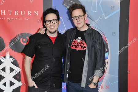 "Stock Picture of David Yarovesky, James Gunn. David Yarovesky, left, and James Gunn attend ""American Horror Story: Apocalypse"" FYC event at NeueHouse Hollywood, in Los Angeles"
