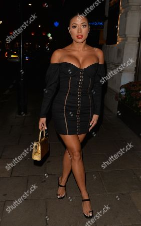 Kaz Crossley out and about, Mayfair, London