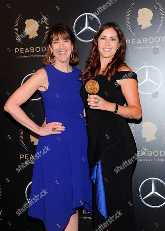 Lois Vossen; Erika Cohn. Lois Vossen and Erika Cohn attends the 78th annual Peabody Awards Press Room at Cipriani Wall Street, in New York