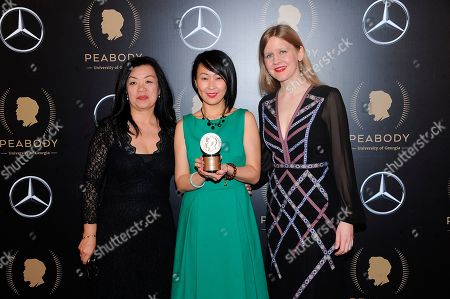 Anita Lee; Tiffany Hsiung; Justine Nagan. Anita Lee, Tiffany Hsiung and Justine Nagan attend the 78th annual Peabody Awards Press Room at Cipriani Wall Street, in New York