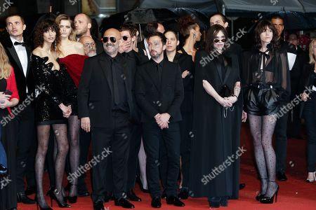 Mica Arganaraz, Abbey Lee Kershaw, Gaspar Noe, Anthony Vacarello, Beatrice Dalle and Charlotte Gainsbourg