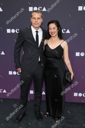 Stock Photo of Shepard Fairey, Amanda Fairey. Shepard Fairey and Amanda Fairey attend the 2019 MOCA benefit at the Geffen Contemporary, in Los Angeles
