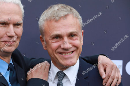 Stock Image of Klaus Biesenbach, Christoph Waltz. Klaus Biesenbach and Christoph Waltz attend the 2019 MOCA benefit at the Geffen Contemporary, in Los Angeles