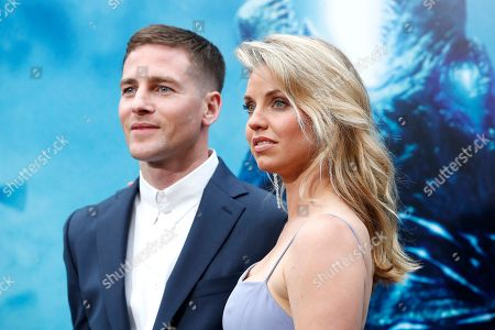 Stock Photo of US writer Zach Shields arrives with actress Kelli Garner for the premiere of Warner Bros 'Godzilla: King of The Monsters' at the TCL Chinese Theatre IMAX in Hollywood, Los Angeles, California, USA, 18 May 2019. The movie opens in US theaters on 31 May 2019.
