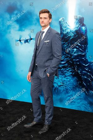 Stock Image of Hartley Sawyer arrives for the premiere of Warner Bros 'Godzilla: King of The Monsters' at the TCL Chinese Theatre IMAX in Hollywood, Los Angeles, California, USA, 18 May 2019. The movie opens in US theaters on 31 May 2019.