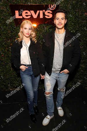 Stock Photo of Claudia Lee, Jayson Blair. Claudia Lee and Jayson Blair seen at the Levi's 501 Day Hosted by Hailey Bieber and Heron Preston, in West Hollywood, Calif