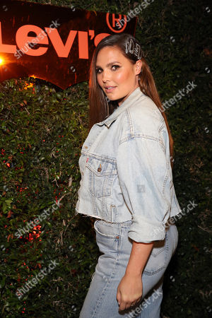 Candice Huffine seen at the Levi's 501 Day Hosted by Hailey Bieber and Heron Preston, in West Hollywood, Calif