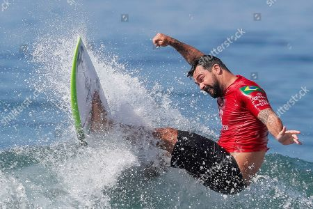 Willian Cardoso of Brazil in action during round of 32 at the Corona Bali Protected surfing event as part of the 2019 World Surf League in Keramas, Bali, Indonesia, 19 May 2019.