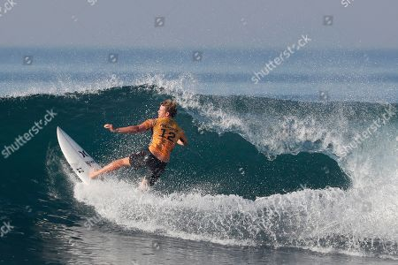 John John Florence of Hawaii in action during round of 32 at the Corona Bali Protected surfing event as part of the 2019 World Surf League in Keramas, Bali, Indonesia, 19 May 2019.