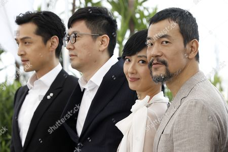 Hu Ge, Chinese director Diao Yinan, Taiwanese actress Gwei Lun Mei and Chinese actor Liao Fan pose during the photocall for 'Nan Fang Che Zhan De Ju Hui' (The Wild Goose Lake) at the 72nd annual Cannes Film Festival, in Cannes, France, 19 May 2019. The movie is presented in the Official Competition of the festival which runs from 14 to 25 May.