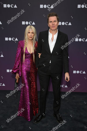Stock Image of Gela Nash Taylor, John Taylor. Gela Nash Taylor and John Taylor attend the 2019 MOCA benefit at the Geffen Contemporary on in Los Angeles