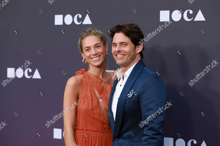 Edei Hit, James Marsden. Edei Hit and James Marsden attend the 2019 MOCA benefit at the Geffen Contemporary on in Los Angeles