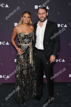 Yael Cohen, Scooter Braun. Yael Cohen and Scooter Braun attend the 2019 MOCA benefit at the Geffen Contemporary on in Los Angeles