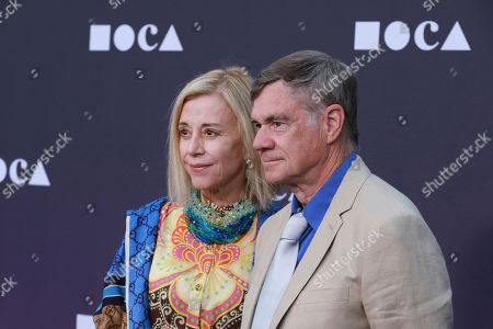 Paige Powell, Gus Van Sant. Paige Powell and Gus Van Sant attend the 2019 MOCA benefit at the Geffen Contemporary on in Los Angeles