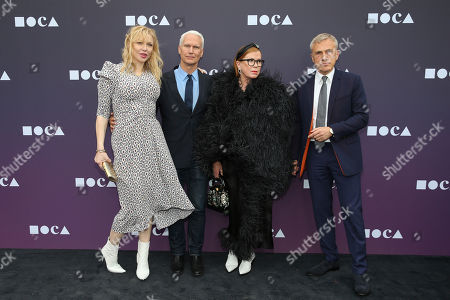Stock Photo of Courtney Love, Klaus Biesenbach, Mary Martin, Christoph Waltz. Courtney Love, (from left) Klaus Biesenbach, Mary Martin, and Christoph Waltz attend the 2019 MOCA benefit at the Geffen Contemporary on in Los Angeles