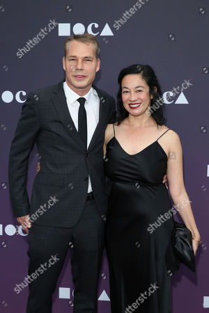 Shepard Fairey, Amanda Fairey. Shepard Fairey and Amanda Fairey attend the 2019 MOCA benefit at the Geffen Contemporary on in Los Angeles
