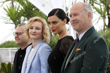 Corneliu Porumboiu, Romanian actress Rodica Lazar, Romanian actress Catrinel Marlon and Romanian actor Vlad Ivanov pose during the photocall for 'La Gomera' (The Whistlers) at the 72nd annual Cannes Film Festival, in Cannes, France, 19 May 2019. The movie is presented in the Official Competition of the festival which runs from 14 to 25 May.
