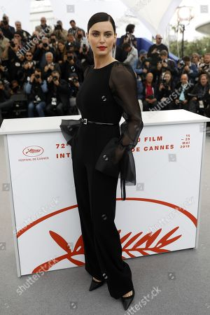 Catrinel Marlon poses during the photocall for 'La Gomera' (The Whistlers) at the 72nd annual Cannes Film Festival, in Cannes, France, 19 May 2019. The movie is presented in the Official Competition of the festival which runs from 14 to 25 May.