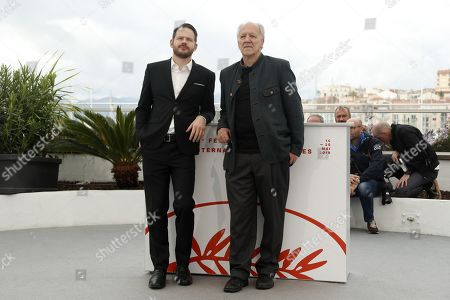 US producer Roc Morin (L) and German director Werner Herzog (R) pose during the photocall for 'Family Romance' at the 72nd annual Cannes Film Festival, in Cannes, France, 19 May 2019. The movie is presented in the section Special Screenings of the festival which runs from 14 to 25 May.