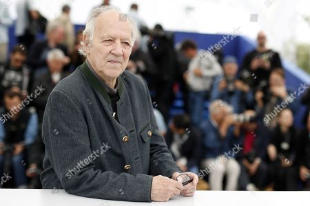 Werner Herzog poses during the photocall for 'Family Romance' at the 72nd annual Cannes Film Festival, in Cannes, France, 19 May 2019. The movie is presented in the section Special Screenings of the festival which runs from 14 to 25 May.