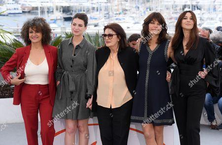 Stock Picture of Souad Amidou, Tess Lauvergne, Anouk Aimee, Marianne Denicourt and Monica Bellucci