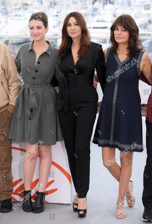 Tess Lauvergne, Monica Bellucci and Marianne Denicourt