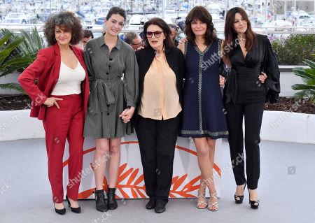 Souad Amidou, Tess Lauvergne, Anouk Aimee, Marianne Denicourt and Monica Bellucci